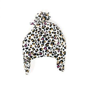 Baby Girl Beanie Cheetah Print 6-12 Month